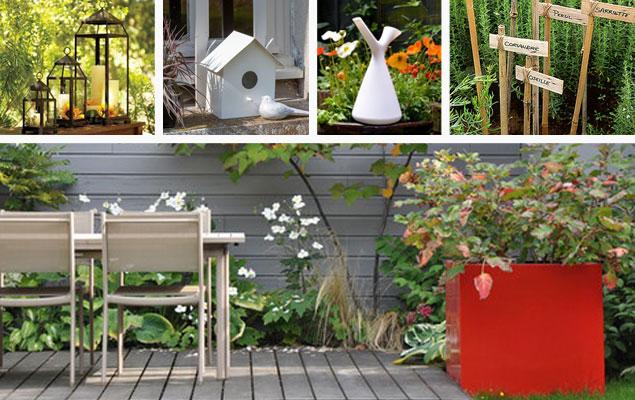 Des accessoires pour décorer le jardin